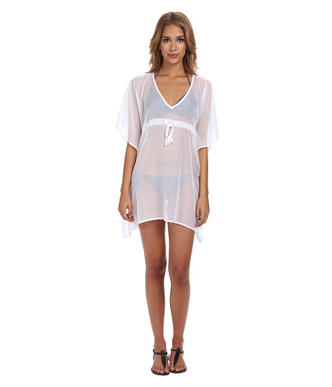 Echo Design - Solid Butterfly Cover-Up (White) Women's Swimwear