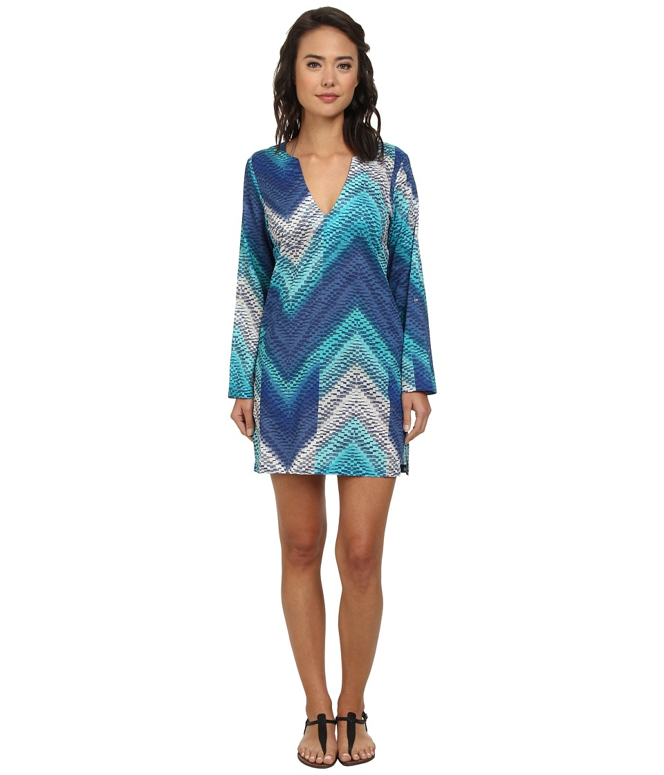 Echo Design - Island Chevron Tunic Cover-Up (Ocean) Women's Swimwear