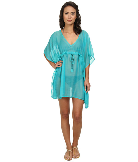 Echo Design - Solid Butterfly Cover-Up (Turquoise) Women
