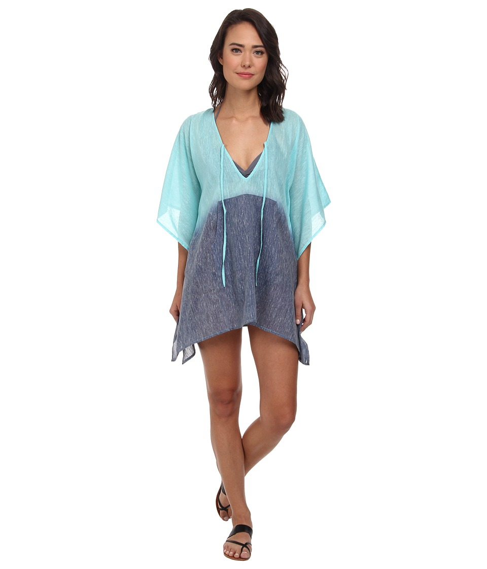 Echo Design - Ombre Kangaroo Poncho Cover-Up (Ocean) Women's Swimwear
