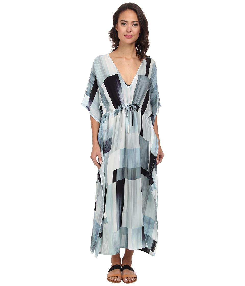 Echo design waterfall blocks silk dress cover up dealtrend for Waterfall design dress