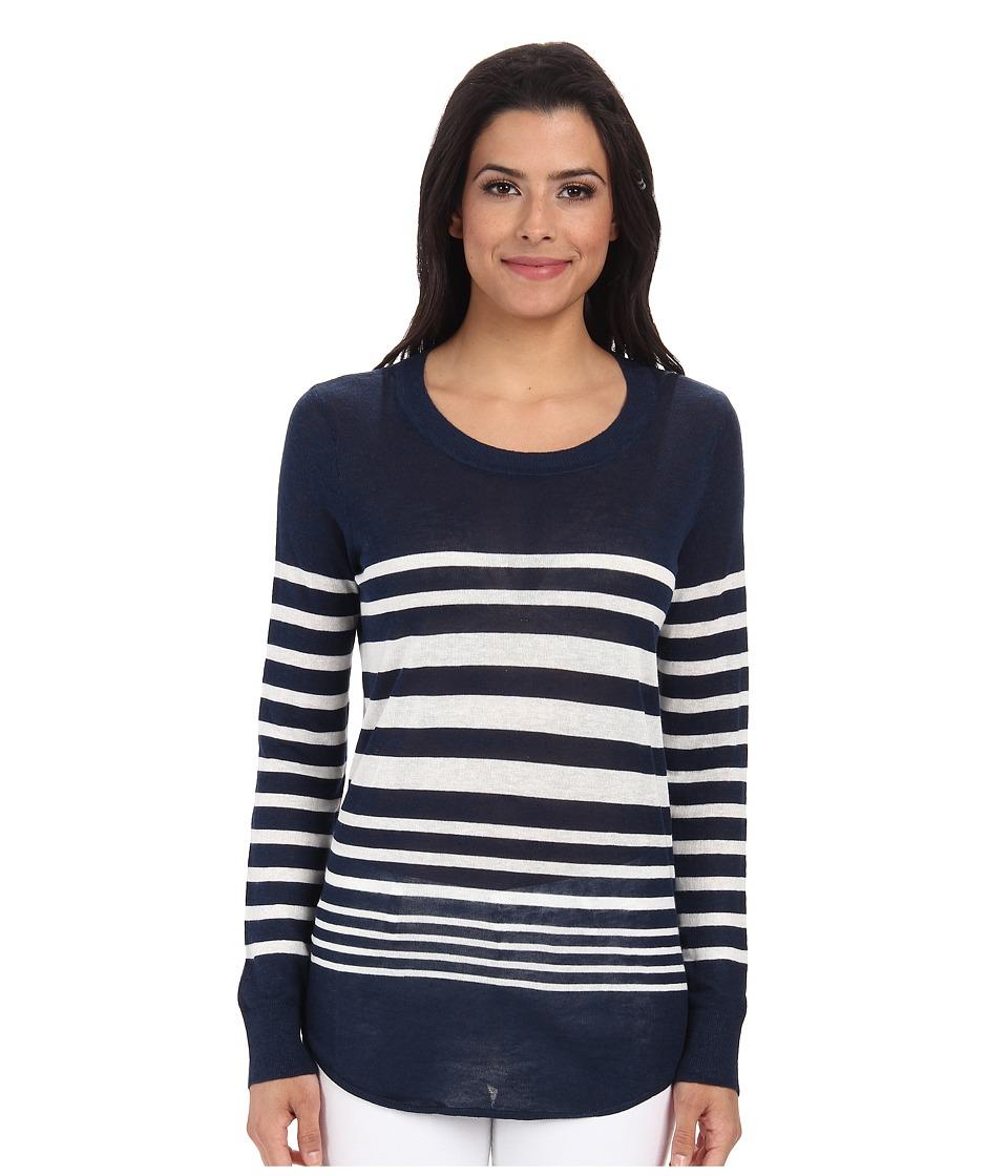 Splendid - Highland Stripe Sweater (Navy Cream) Women's Sweater