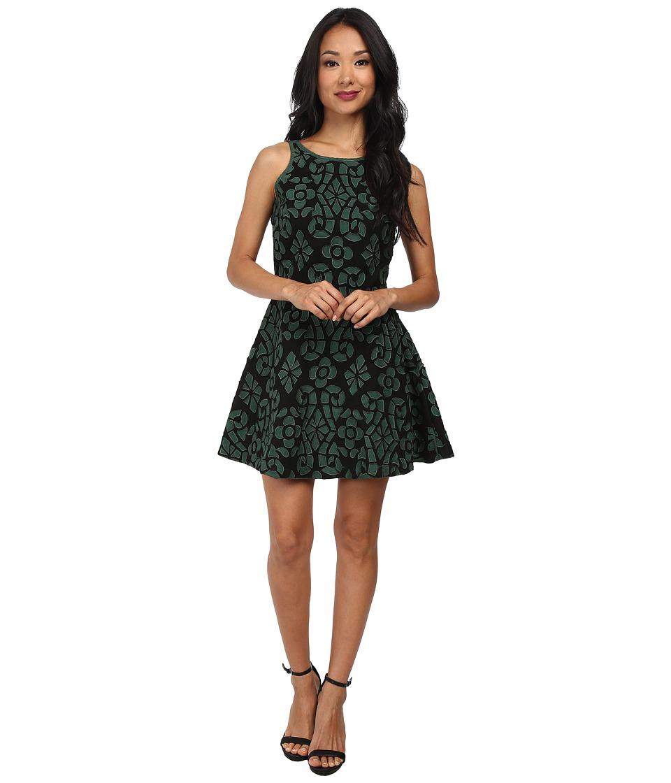 KAS New York Phemipine Dress (Black/Green) Women