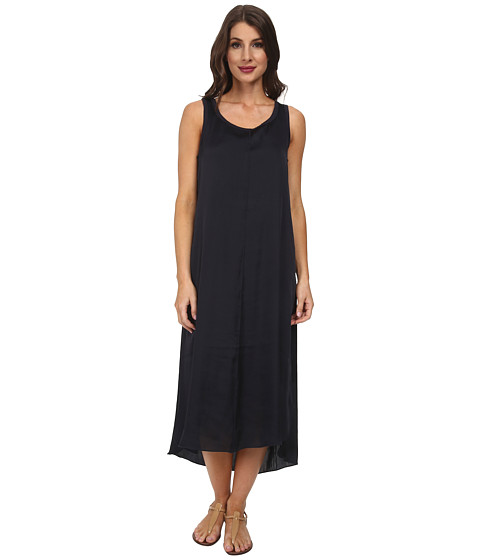 Splendid - Jersey Woven Mix T Length Dress (Navy/Navy) Women