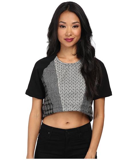 KAS New York - Kanae Top (Black) Women's Short Sleeve Pullover