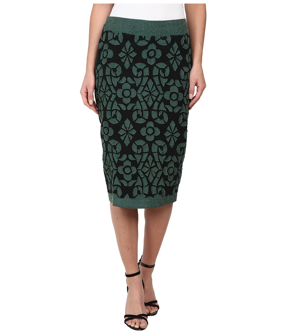 KAS New York - Rihanna Skirt (Black/Green) Women's Skirt