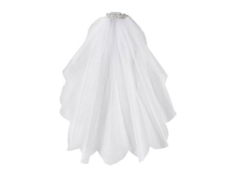 Us Angels - Bun Wrap with Veil (Little Kids/Big Kids) (White) Hair Accessories
