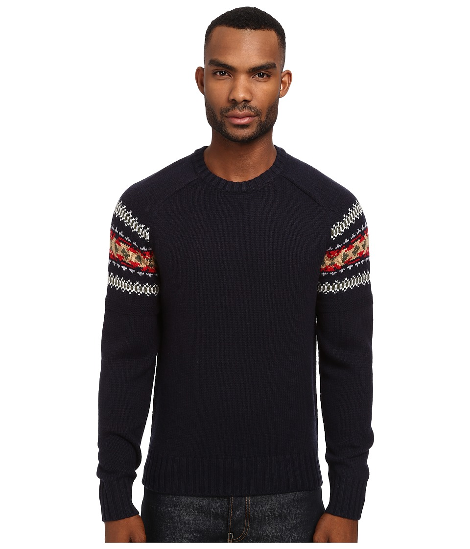 Jack Spade - Copeland Fair Isle Sweater (Navy Multi) Men's Sweater