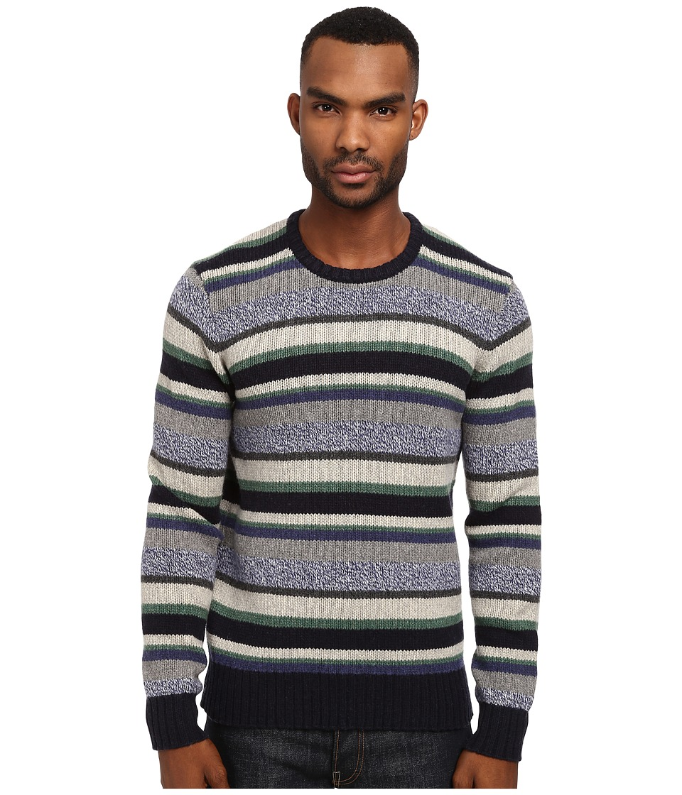 Jack Spade - Sanford Crew Neck Sweater (Blue Stripe) Men's Sweater