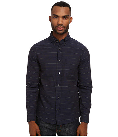 Jack Spade - Hardy Stripe Shirt (Navy) Men