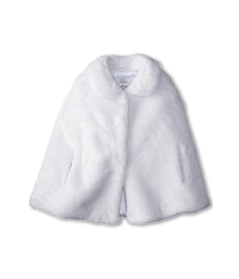 Us Angels - Faux Fur Cape (Little Kids/Big Kids) (White) Girl