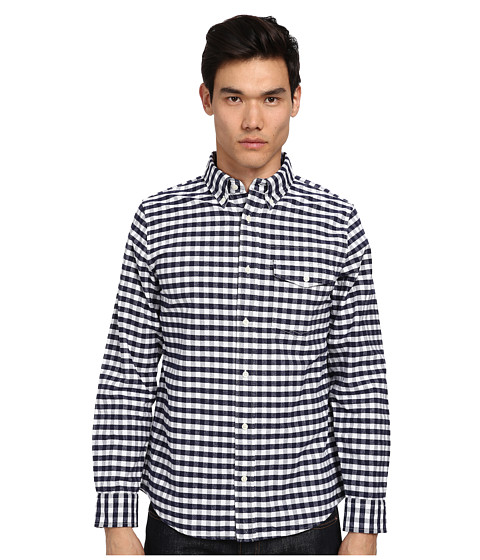 Jack Spade - Rayford Gingham Shirt (Peacoat) Men's Clothing