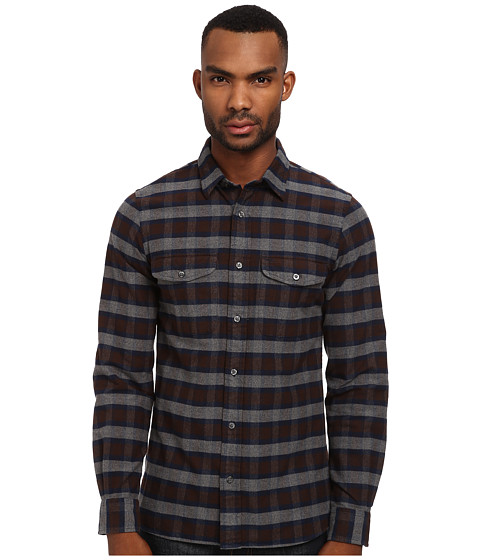 Jack Spade - Putnam Plaid Flannel Work Shirt (Brown) Men's Clothing