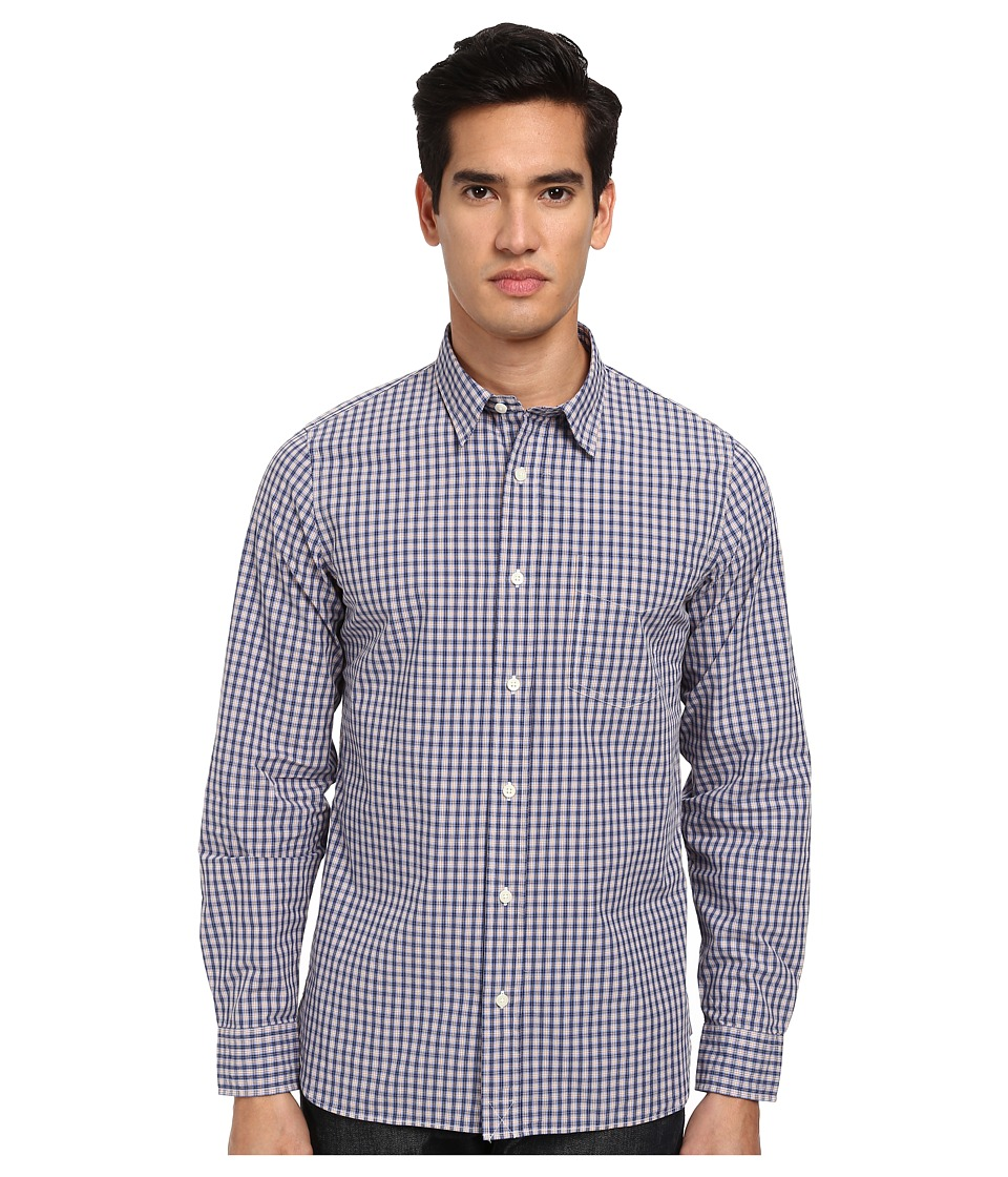 Jack Spade - Ashland Check Shirt (Blue) Men's Long Sleeve Button Up