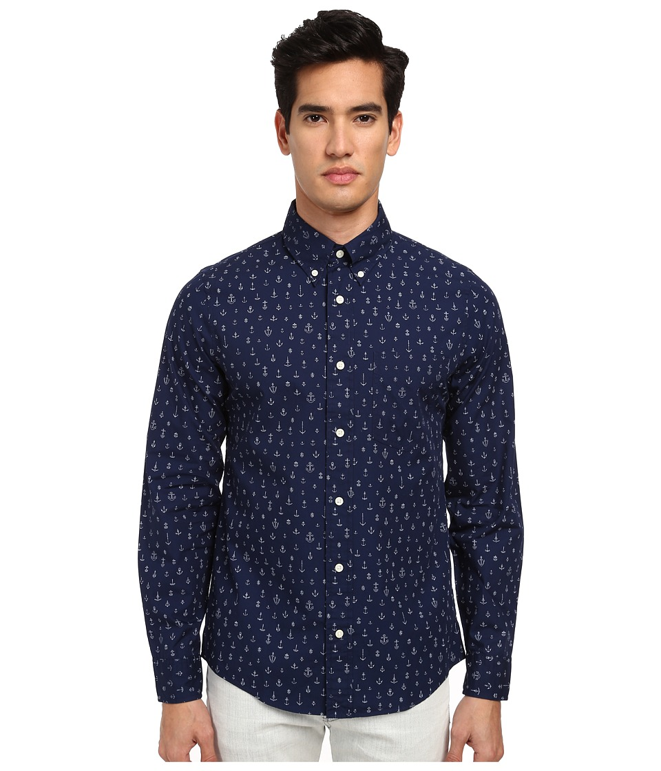 Jack Spade - Carey Anchor Print Shirt (Navy) Men