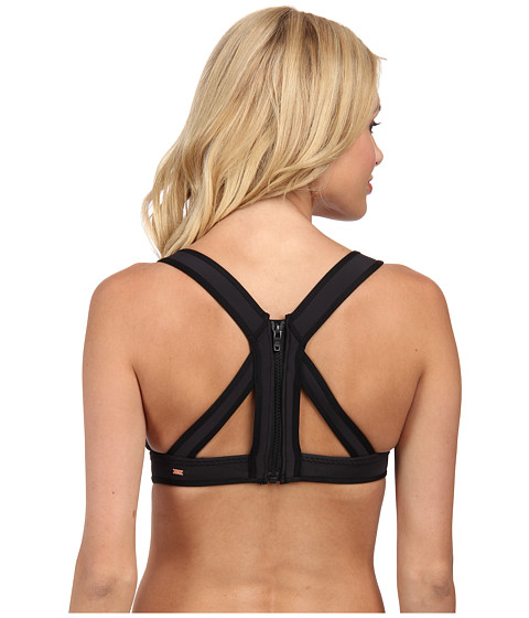 Roxy - Optic Nature Binded Tiki Top (True Black) Women's Swimwear