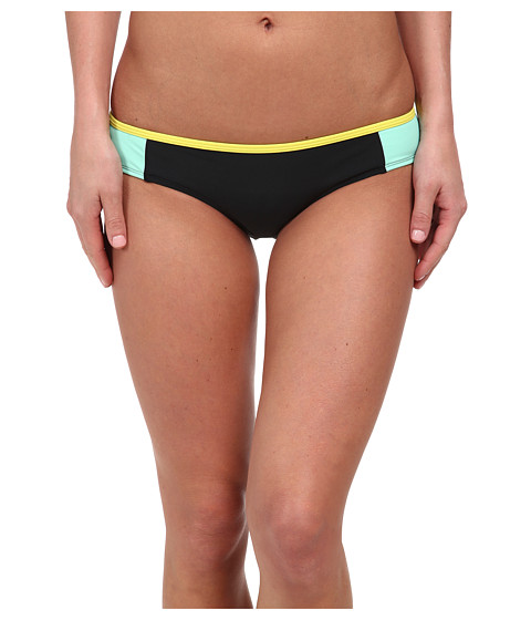 Roxy - Optic Nature Cheeky Scooter Bottom (True Black) Women's Swimwear