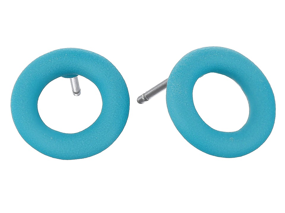 Marc by Marc Jacobs - Rubberized Doughnut Studs Earrings (Wintergreen) Earring