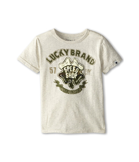 Lucky Brand Kids - Speed Shop Tee (Little Kids/Big Kids) (Turtle Heather) Boy's T Shirt