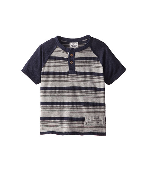 Lucky Brand Kids - Racer Code Raglan (Little Kids/Big Kids) (Black Iris) Boy's Short Sleeve Pullover