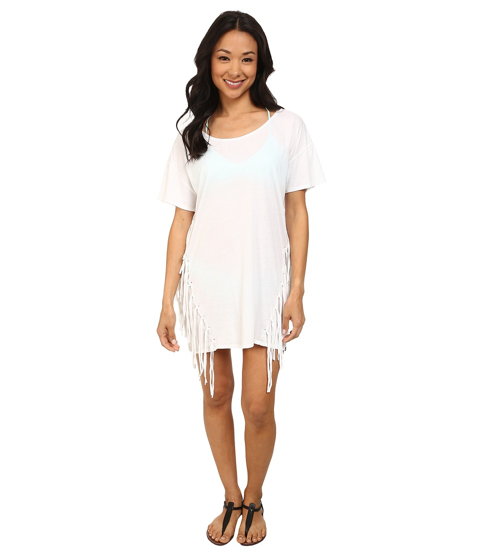 Volcom - Smoke Signals Dress Cover-Up (White) Women's Swimwear