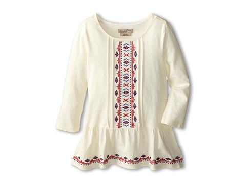 Lucky Brand Kids - Melody Top (Big Kids) (Antique White) Girl's Long Sleeve Pullover