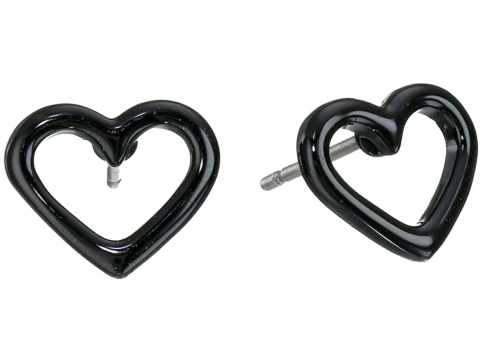 Marc by Marc Jacobs - Open Heart Studs Earring (Black) Earring
