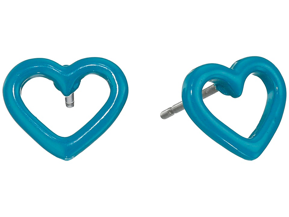 Marc by Marc Jacobs - Open Heart Studs Earring (Wintergreen) Earring