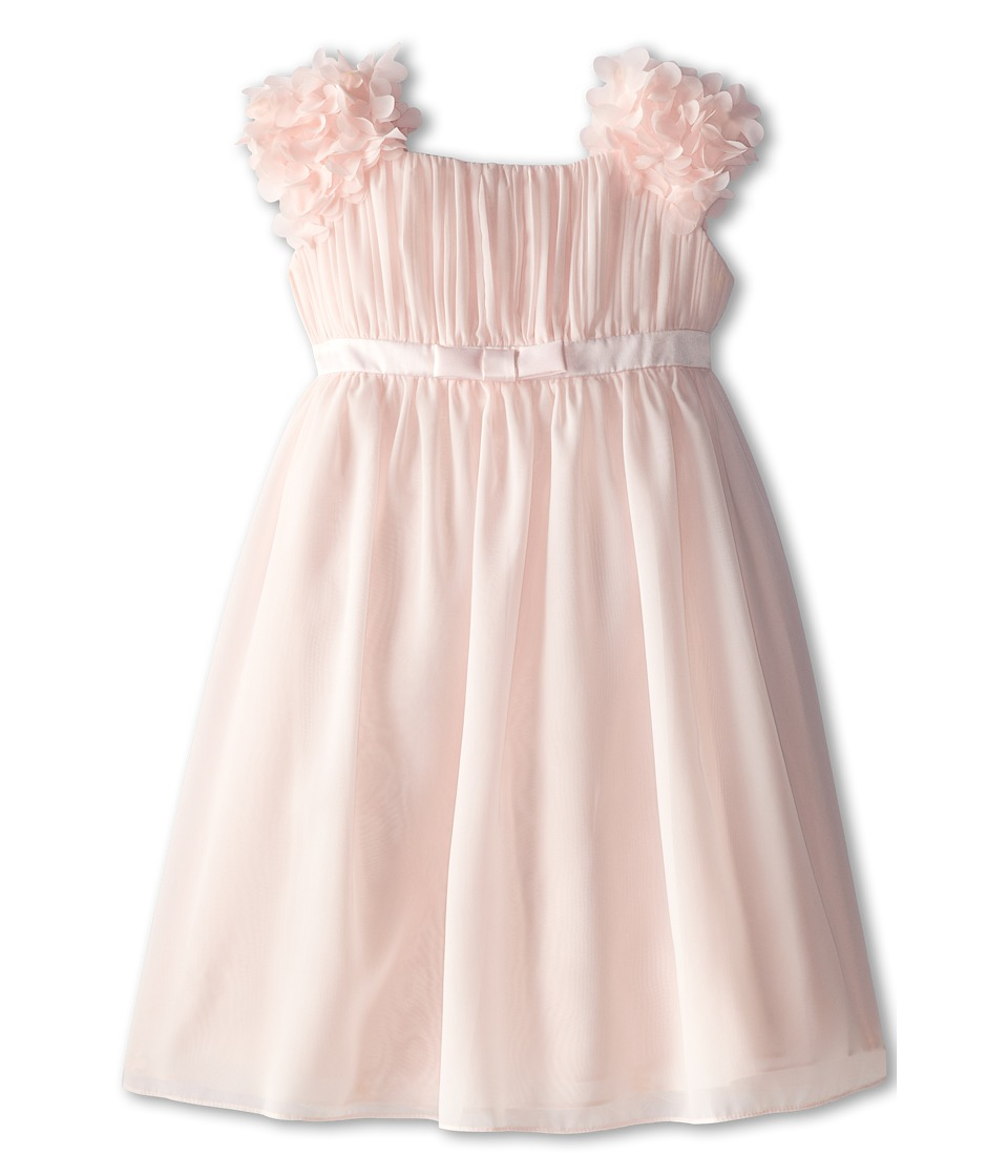 Us Angels - Chiffon Ruffle Sleeve Dress (Big Kids) (Blush Pink) Girl's Dress