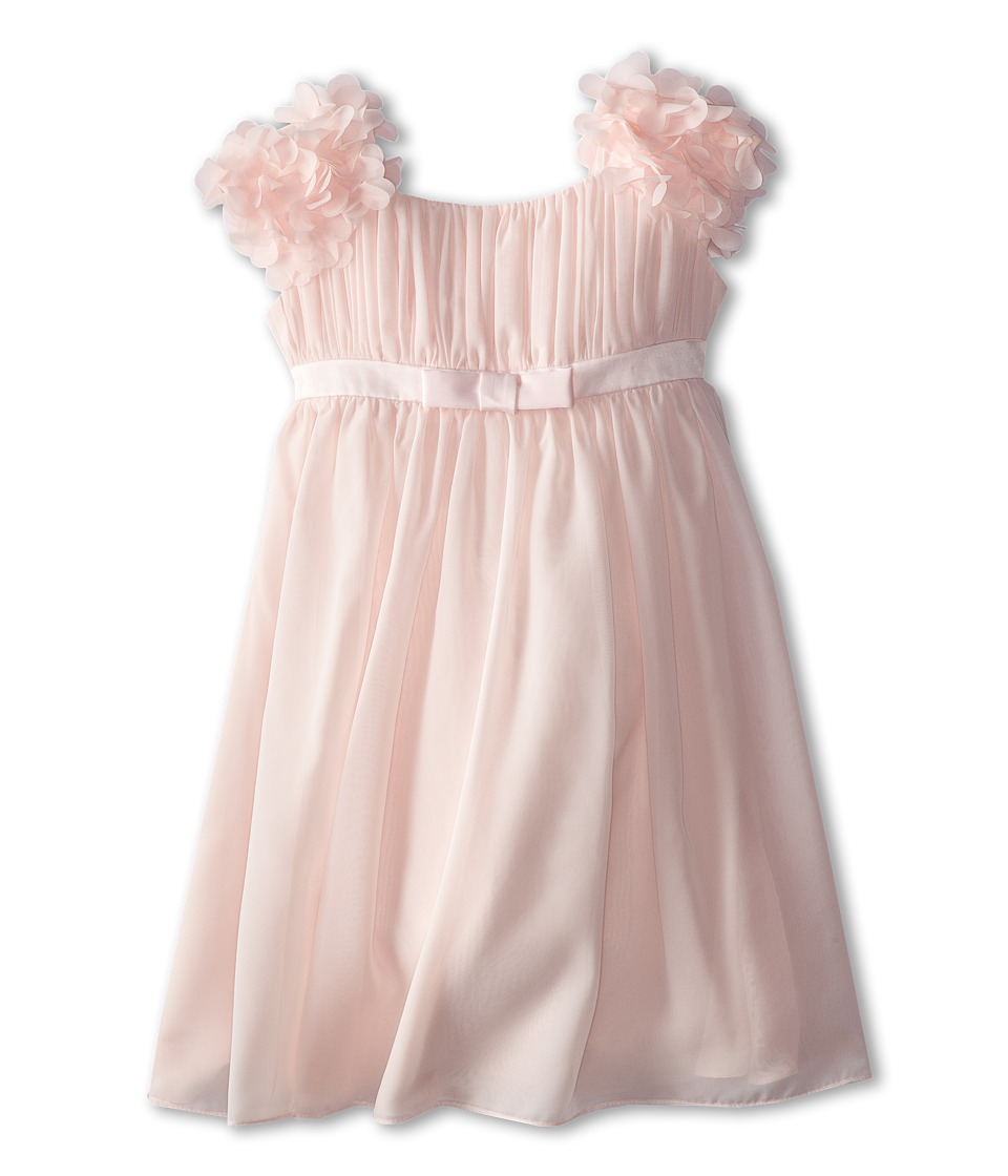 Us Angels - Chiffon Ruffle Sleeve Dress (Little Kids) (Blush Pink) Girl's Dress
