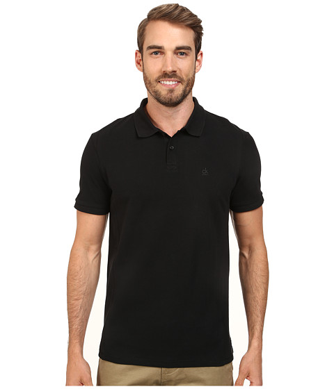 Calvin Klein Jeans - Pigment Gdye Pique Polo (Black 050000) Men