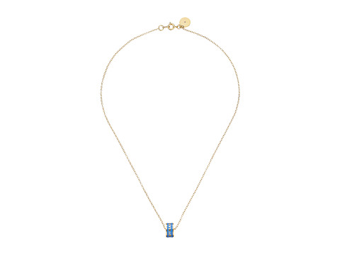 Marc by Marc Jacobs - Logo Donut Pendant (Conch Blue) Necklace