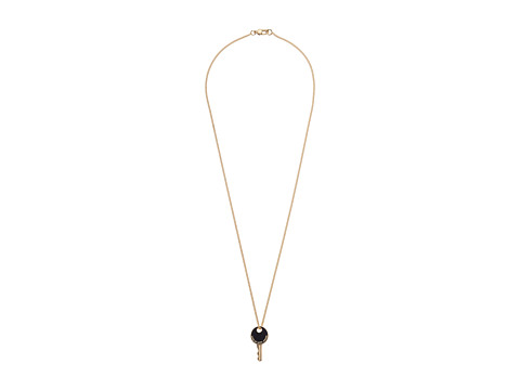 Marc by Marc Jacobs - Lock-In Enamel Key Pendant Necklace (Black) Necklace
