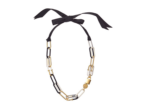 Marc by Marc Jacobs - Ferus Bubble Chain Statement Necklace (Black Multi) Necklace