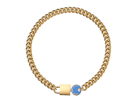 Marc by Marc Jacobs - Enml Lock-In Statement Choker Necklace (Conch Blue) Necklace