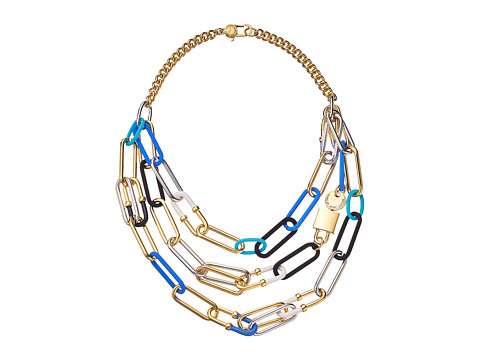 Marc by Marc Jacobs - Ferus Bubble Chain Statement Necklace (Conch Blue Multi) Necklace