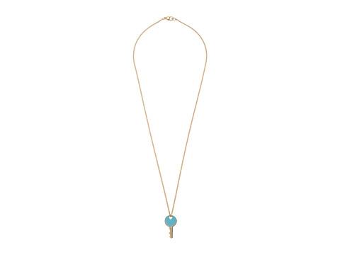 Marc by Marc Jacobs - Lock-In Enamel Key Pendant Necklace (Sea Aqua) Necklace