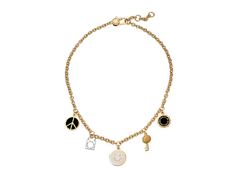 Marc by Marc Jacobs - Logo Disc-O Happy House Charm Necklace (Black Multi) Necklace