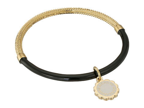 Marc by Marc Jacobs - Logo Disc-O Scalloped Charm Hula Bracelet (Black) Bracelet