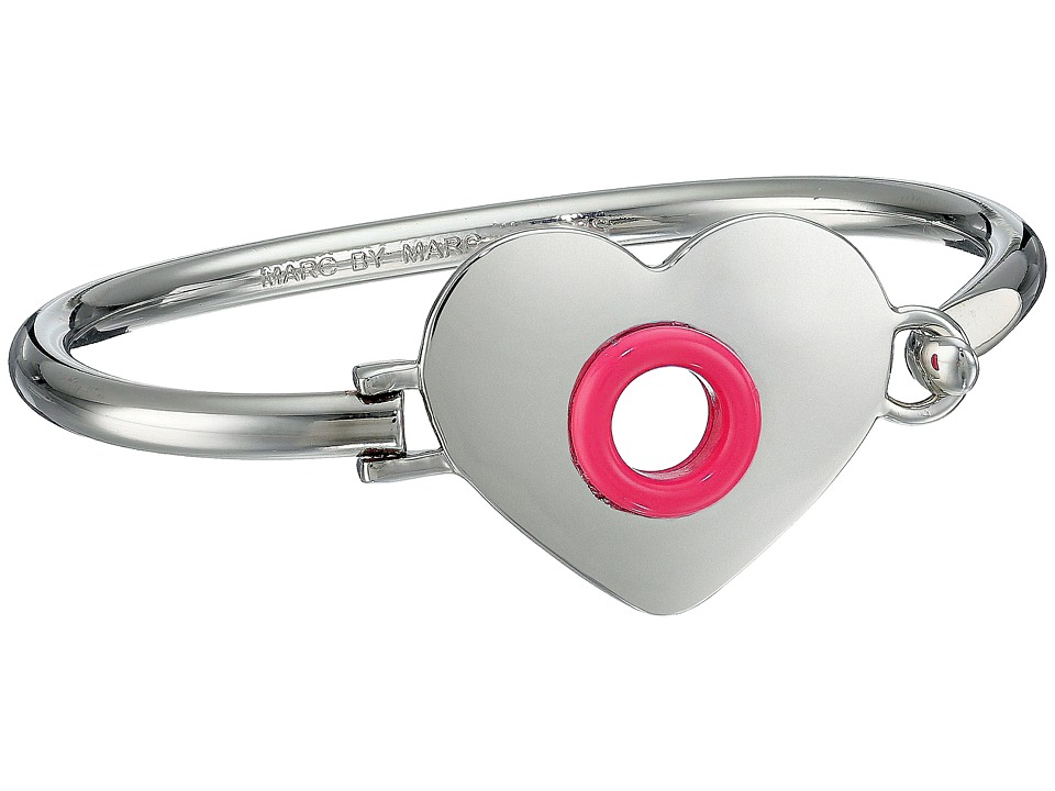 Marc by Marc Jacobs - Round And Round Hole Hearted Hinge Cuff Bracelet (Bright Rose) Bracelet