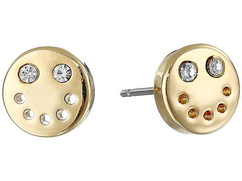 Marc by Marc Jacobs - Logo Disc-O Smiley Studs Earrings (Oro) Earring