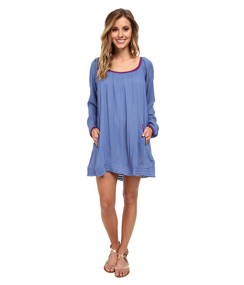 Roxy - Sweet Tropics Dress Cover-Up (Chambray 2) Women's Swimwear