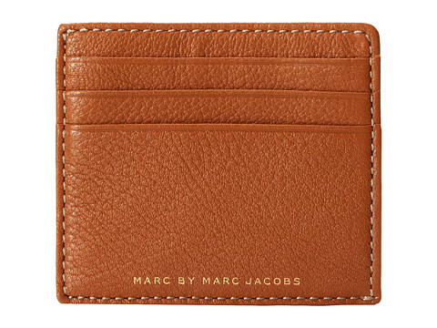 Marc by Marc Jacobs - Classic Leather Credit Card Case (Caramel Brown) Credit card Wallet