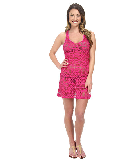 Roxy - Diamond Tank Dress Cover-Up (Berry) Women's Swimwear