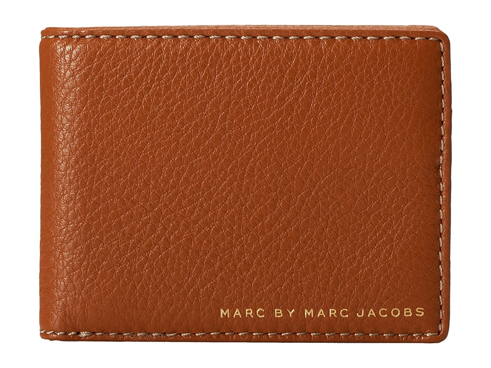 Marc by Marc Jacobs - Classic Leather Martin Wallet (Caramel Brown) Wallet Handbags
