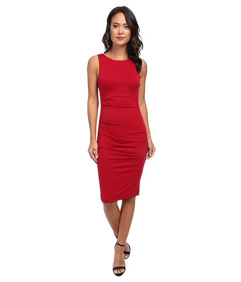 Nicole Miller - Stretchy Matte Jersey Cross Back Dress (Red) Women