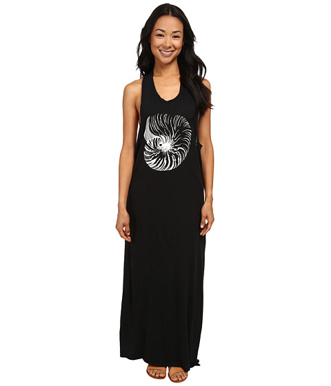 Roxy - Optic Nature Maxi Cover-Up (True Black) Women's Swimwear