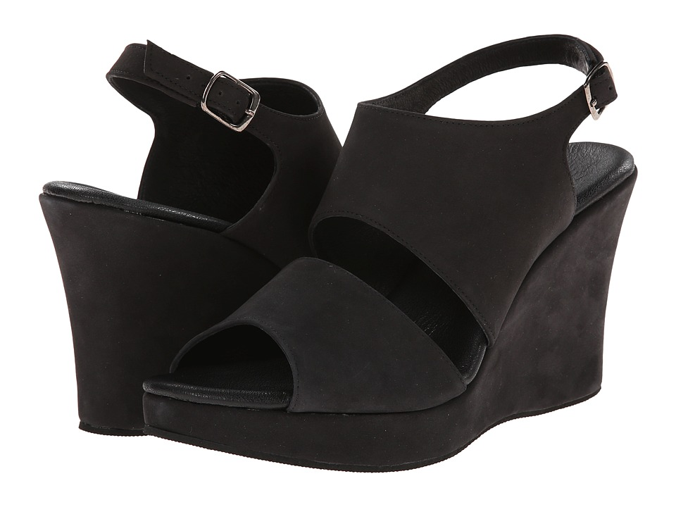Cordani - Wanita (Black Nubuck) Women's Wedge Shoes