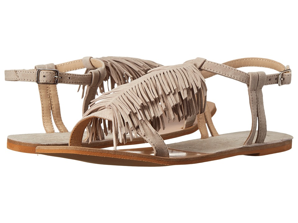 Kristin Cavallari - Tommy Fringe Sandal (Mushroom Kid Suede) Women's Sandals