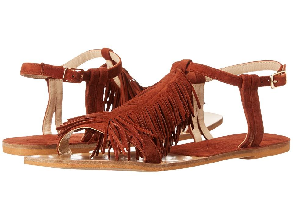 Kristin Cavallari - Tommy Fringe Sandal (Rust Kid Suede) Women's Sandals